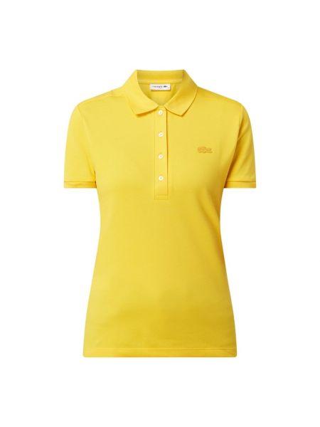 Żółty t-shirt bawełniany krótki rękaw Lacoste