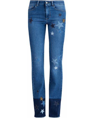 Расклешенные джинсы с вышивкой с эффектом потертости Redvalentino
