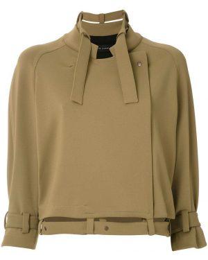 Коричневое пальто с капюшоном с воротником Gloria Coelho