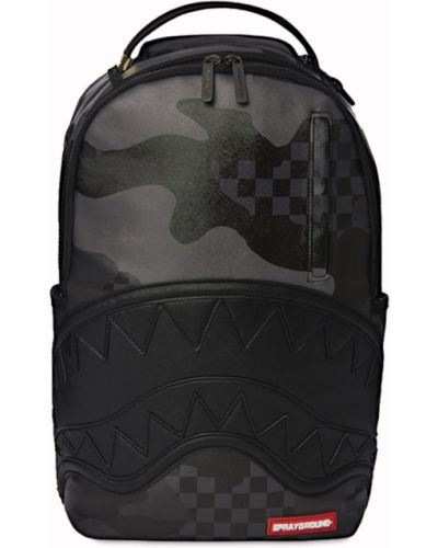 Рюкзак с принтом - черный Sprayground