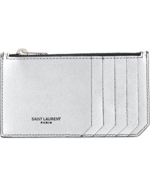 Серебряный кошелек Saint Laurent