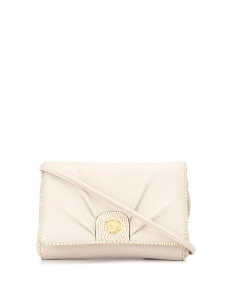 Золотистая спортивная сумка с низкой посадкой на молнии с карманами Céline Pre-owned