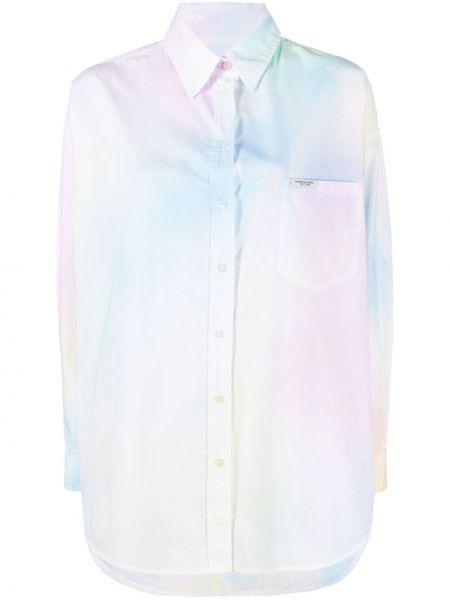 Różowa koszula bawełniana z długimi rękawami Forte Dei Marmi Couture