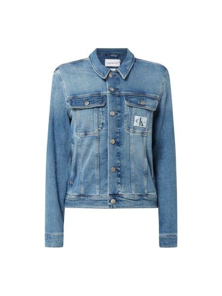 Niebieska kurtka jeansowa bawełniana Calvin Klein Jeans