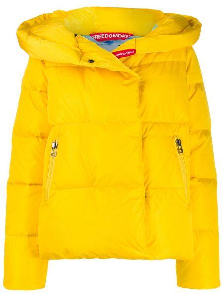 Прямая нейлоновая куртка с капюшоном мятная Freedomday