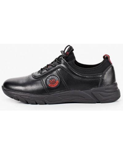 Черные кроссовки из искусственной кожи Shuzzi