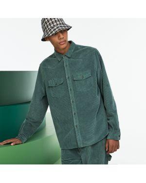 Рубашка с карманами вельветовая Lacoste