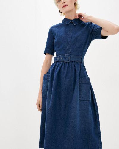 Синее клубное джинсовое платье Concept Club