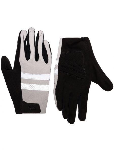 Czarne rękawiczki srebrne Rapha