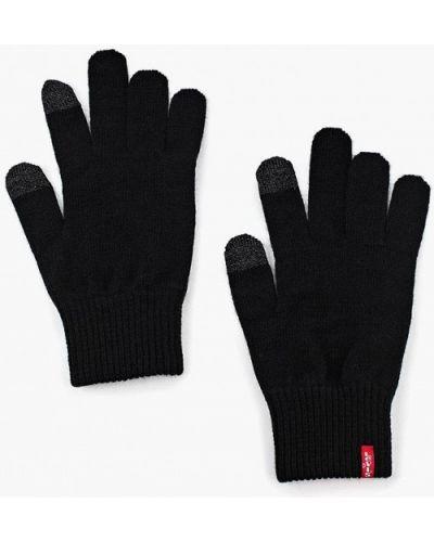 Черные перчатки текстильные Levi's®