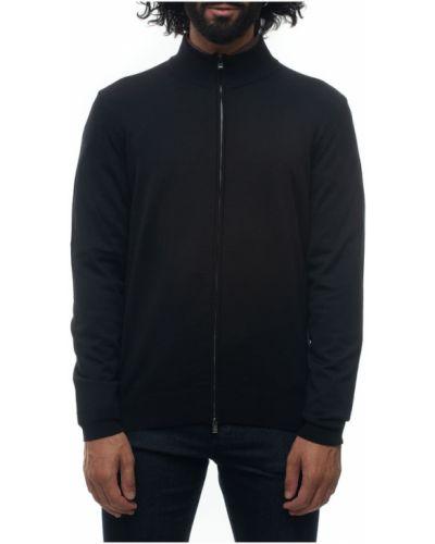 Czarny pulower wełniany Boss