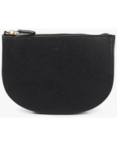 Черная поясная сумка из натуральной кожи Gap
