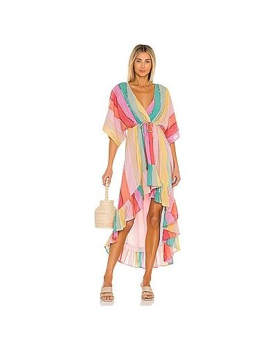 Розовое платье с люрексом с подкладкой Sundress