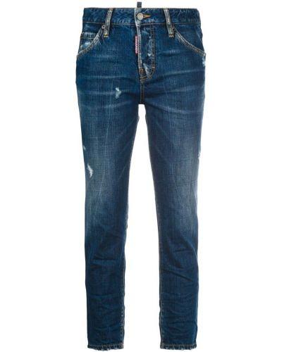 Джинсы-скинни укороченные классические с карманами по бокам Dsquared2