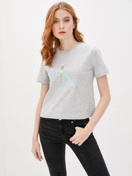 Поло футбольный джинсовый Calvin Klein Jeans