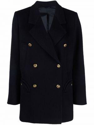 Синее пальто с воротником Blazé Milano