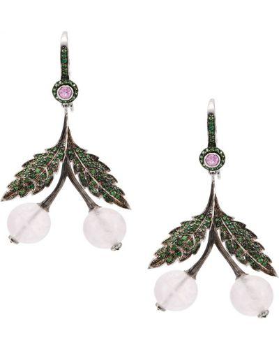 Серебряные серьги с кварцем Axenoff Jewellery