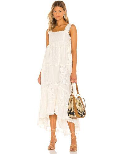 Biała sukienka z haftem Tularosa