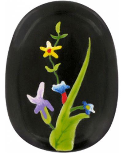 Брошь с камнями черная Nature Bijoux