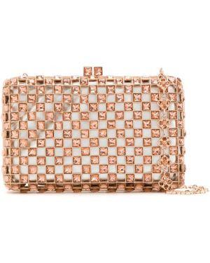 Розовая сумка на цепочке Isla