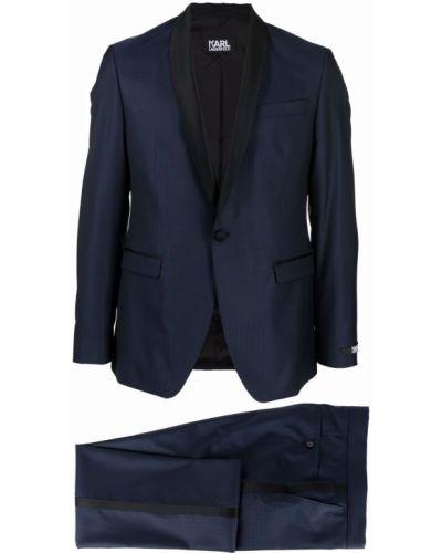Garnitur wełniany - czarny Karl Lagerfeld