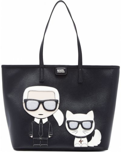 Кожаная сумка большая на руку Karl Lagerfeld