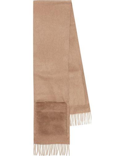 Теплый бежевый шарф из верблюжьей шерсти Max Mara
