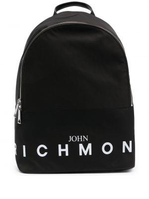 Черный рюкзак с карманами на молнии John Richmond