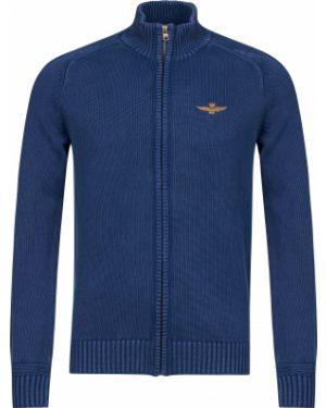 Хлопковая синяя кофта Aeronautica Militare