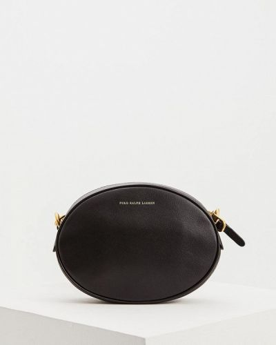 Кожаная сумка через плечо черная Polo Ralph Lauren