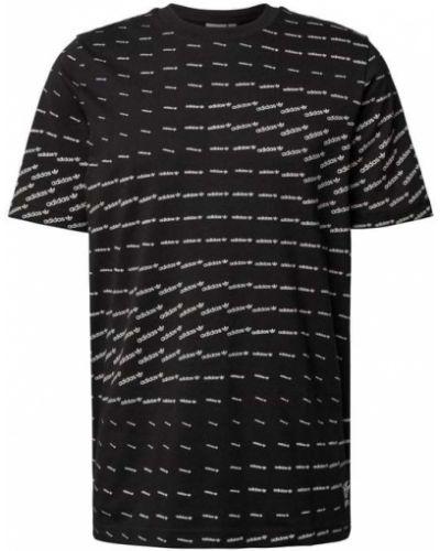 Czarna koszulka z printem Adidas Originals