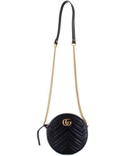 Czarna torba sportowa pikowana na co dzień Gucci