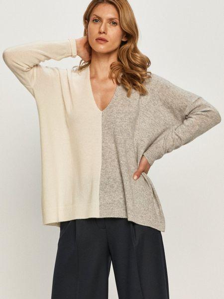 Белый тонкий шерстяной длинный свитер Max&co