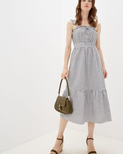Серое весеннее платье Only