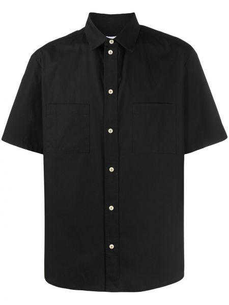 Czarna koszula krótki rękaw bawełniana Ih Nom Uh Nit