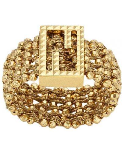 Массивное кольцо - желтое Fendi