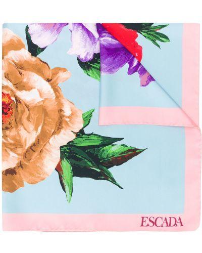 Платок с цветочным принтом Escada