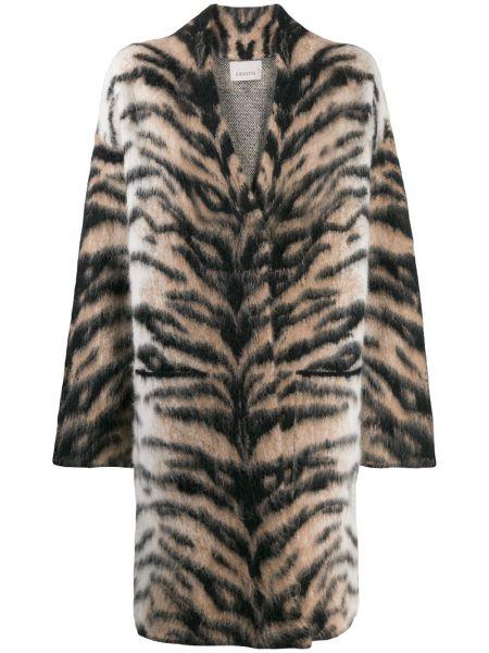 Шерстяное длинное пальто с капюшоном Laneus