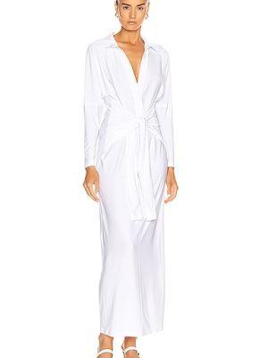 Платье с запахом - белое Norma Kamali