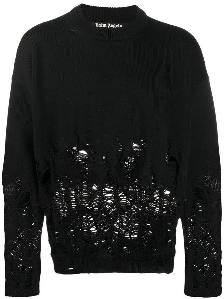 Sweter wełniany długo Palm Angels
