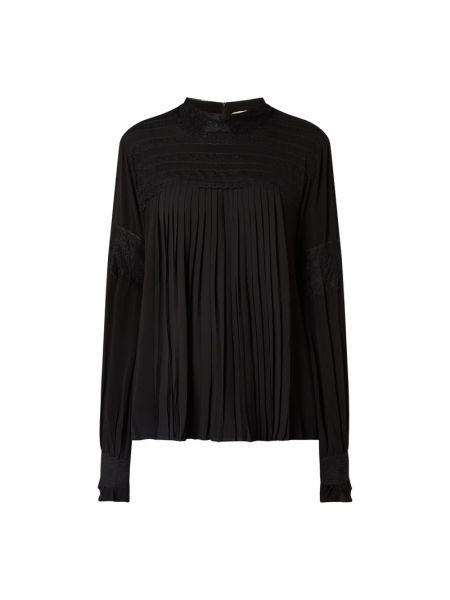 Bluzka koronkowa z długimi rękawami - czarna Cream