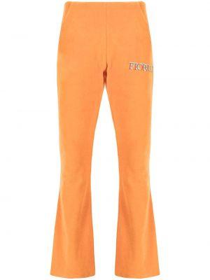 Pomarańczowe spodnie bawełniane Fiorucci