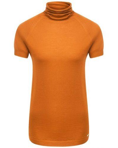Кашемировый пуловер - оранжевый Kiton