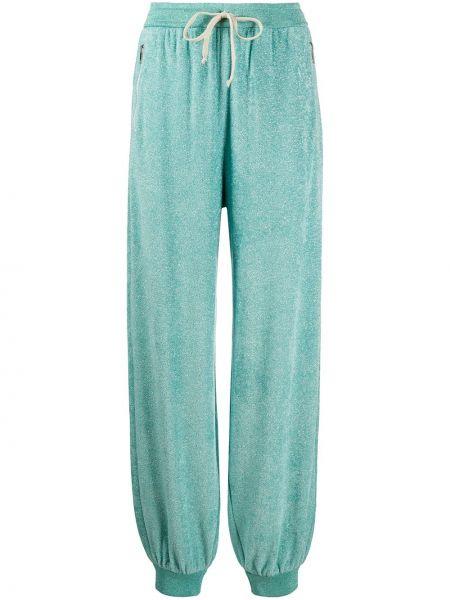 Sportowe spodnie z kieszeniami prosto Gucci