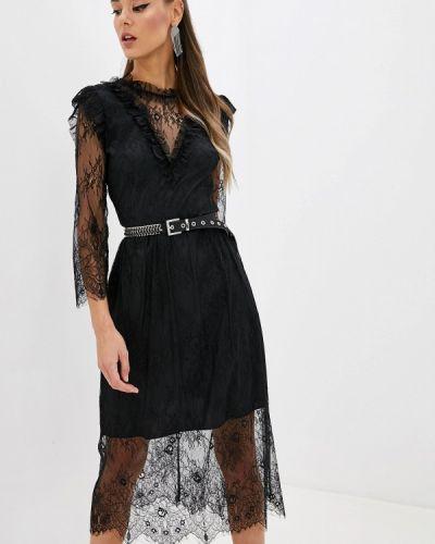 Вечернее платье осеннее черное Imperial
