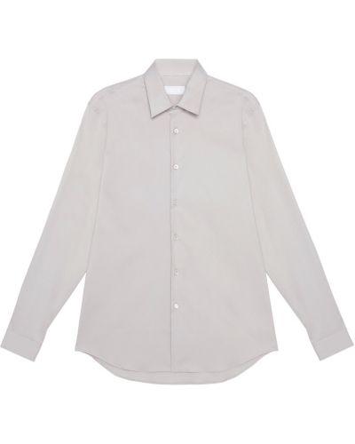 Рубашка серая стрейч Prada