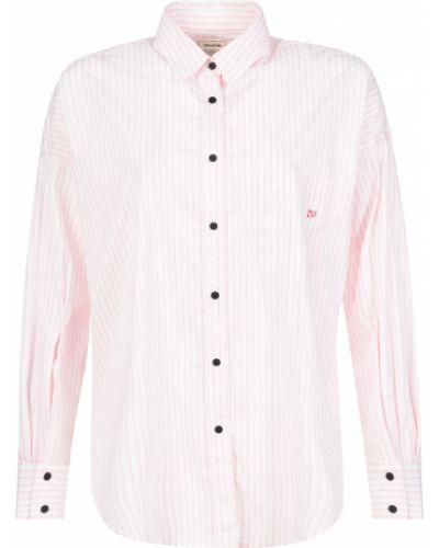 Хлопковая рубашка - розовая Zadig & Voltaire