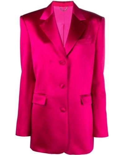 Розовый однобортный классический пиджак на пуговицах Magda Butrym