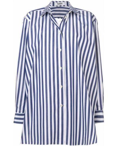 Рубашка в полоску - синяя Marios
