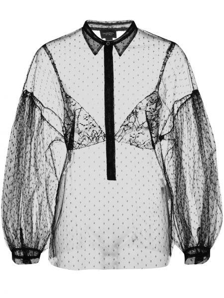 Рубашка прозрачная - черная Giambattista Valli